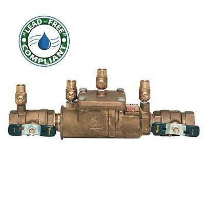 "Watts 3/4"" LF007M3-QT Lead Free Double Check Valve Backflow Preventer 0063231"