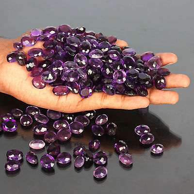 100.00 Ct MAGNIFICENT TRANSLUCENT BOLIVIA AMETHYST GEMSTONES LOOSE LOT WHOLESALE