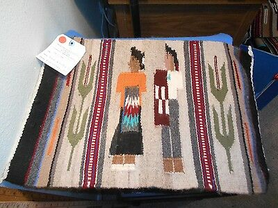 """Navajo Rug Crownpoint Auction, 2 yei. #3291. 14  x 21"""""""