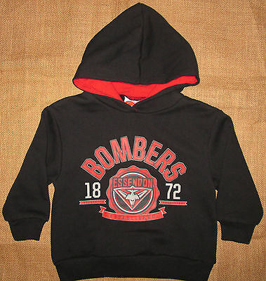 AFL Hoodie Childrens Licensed BOMBERS Jumper Kids Top Essendon Size 2, 4 NEW