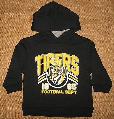 AFL Hoodie Childrens Licensed TIGERS Jumper Kids Top Richmond Size 2, 4, 6 NEW