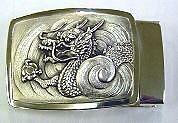 Silver buckle (Dragon)