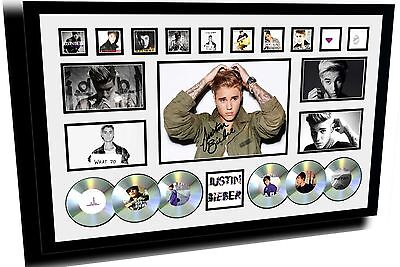 New Justin Bieber Purpose Signed Limited Edition Framed Memorabilia