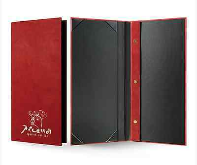10 Custom-Made PU Leather Menu Cover + Debossing <Different Size Available>