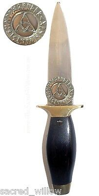 """Rune Triquetra Athame 9.5"""" Wicca Ritual Dagger Altar Pagan Witch Knife Spell"""