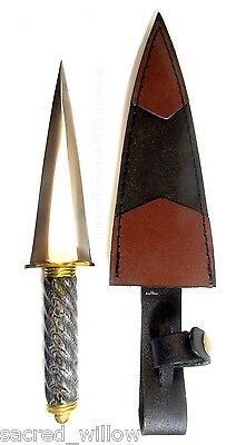 "Roman Black Handle athame 10"" Wicca Ritual Dagger Altar Pagan Witch Knife Spell"