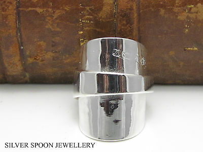 Chunky Solid Sterling Silver Spoon Ring -Size O