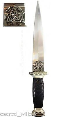 "Triquetra Pentagram Athame 9 1/2"" Wicca Ritual Dagger Altar Pagan Witch Knife"