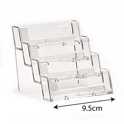 Acrylic 4 Tier Business Card Holder Free Standing Counter Display Retail/Shop