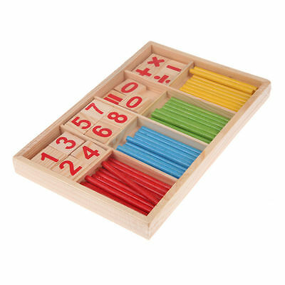 Baby Kids Wooden Mathematical Intelligence Stick Early Learning Counting Toys