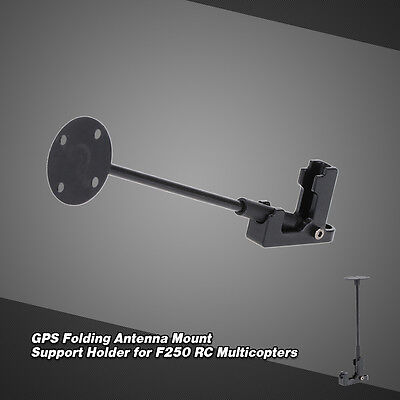 GPS Folding Antenna Mount Support Holder for F250 RC Multicopters Black