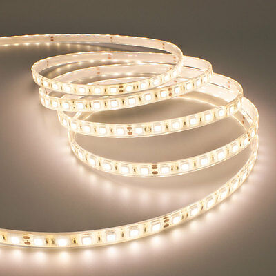 Striscia Strip Led Smd 5050 Flessibile 5M Adesiva Luce Bianca Naturale Ip65