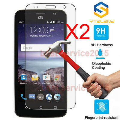2Pcs 9H+ Premium Tempered Glass Screen Protector For ZTE Maven Z812 (Overture 2)