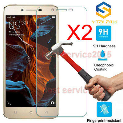 2Pcs 9H+ Premium Tempered Glass Film Screen Protector For Lenovo VIBE K5 Plus