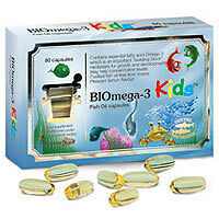 BIOmega-3 Kids Fish Oil - 1000mg - 80 Capsules