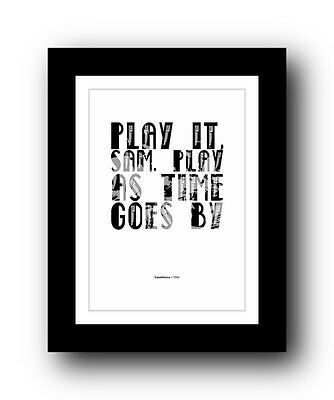 Casablanca ❤ Typography movie quote poster art limited edition print #21