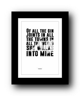 Casablanca ❤ Typography movie quote poster art limited edition GIN print #19