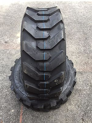 2 NEW 27X8.50-15 Skid Steer/Tractor Tires - 8 Ply - 27X8.5-15 -27X8.50X15