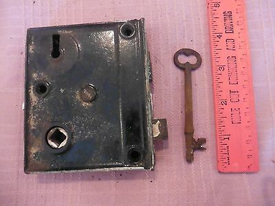 Vintage Door Hardware Mortise Lock Antique Home Salvage with Skeleton Key