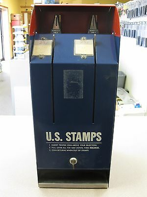 Vintage Usps Postage Stamp Coin Operated (.25) Vending Machine Free Shipping