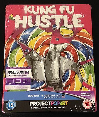 KUNG FU HUSTLE Blu-Ray SteelBook Zavvi UK Exclusive Ltd Ed Region Free OOP Rare!