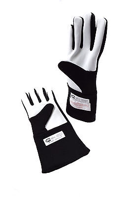 Rjs Racing Equipment Sfi 3.3/5 Double Layer Nomex Racing Gloves Black Large