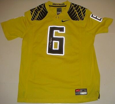 Phil Knight signed Oregon Ducks Nike #6 Yellow Stitched Jersey RARE W/ PROOF