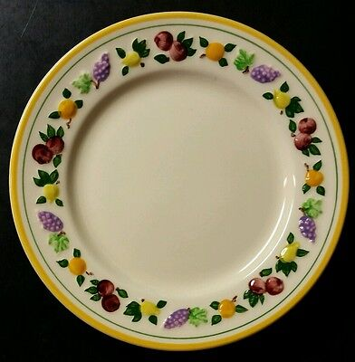 """Franciscan """"small Fruit"""" 6 3/8"""" Bread Plate - Embossed Fruit - Multiples"""