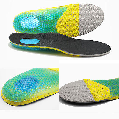 Men's Gel Orthotic Foot Running Insoles Insert Shoes Pad Arch Support Cushion