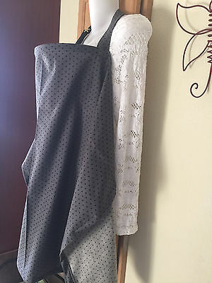 NURSING COVER like HOOTER hider* BREASTFEEDING COVER dark gray dots