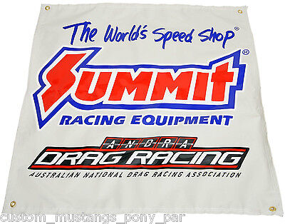 """Summit ANDRA Drag Racing Banner 36"""" x 36"""" Edelbrock ARP NOS Holley ICE Ignition"""