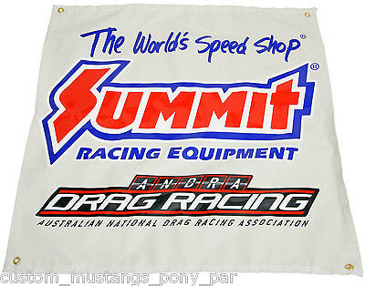 "Summit ANDRA Drag Racing Banner 36"" x 36"" Edelbrock ARP NOS Holley ICE Ignition"