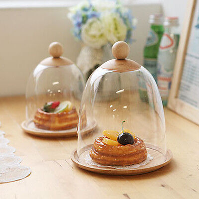 food dome food cover cake dome plastic cake dome plate cover storage clear wood