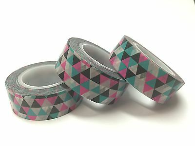Washi Tape Mod Triangles 15Mm X 10Mtr Scrap Craft Wrap Planner Mail Art