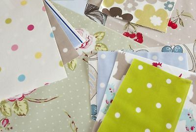 2kg Bag of Cotton Oilcloth Offcuts, Remnants Bundle, Roll Ends for Craft Use