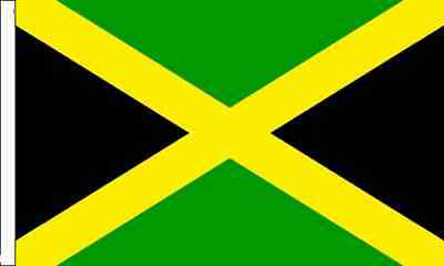 Jamaica Sleeved Flag suitable for Boats 45cm x 30cm