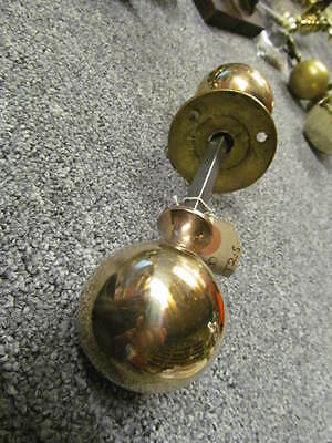 Pr of Reclaimed Brass/Bronze Doorknobs Vintage Antique     -P153-