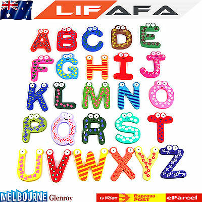 Teaching Kids Childen Learning Magnetic Letters numbers Fridge Magnets Alphabets