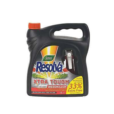 Westland Resolva Extra Tough Weed Killer 4 Litre - Next Day Delivery