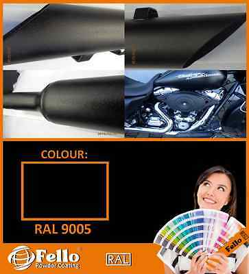 Powder Coating Powder Paint - RAL 9005 BLACK Fine Structur 5KG POLYSTER