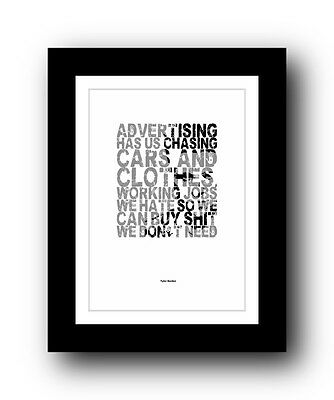 Fight Club ❤ Typography movie quote poster art limited edition print #31