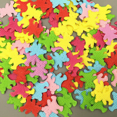 400pcs Mixed Colors Die Cut Bear Shape Felt Appliques Cardmaking decoration