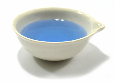 Evaporating Dish, 70 ml, outer dia 75mm, Porcelain, round form with spout