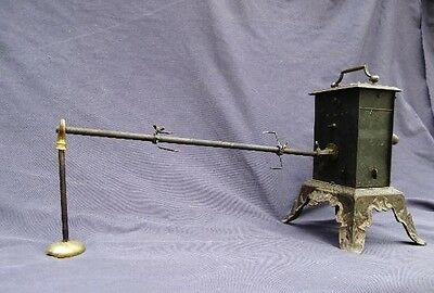 ANTIQUE UNIQUE SPIT ROAST ROASTER CHICKEN KITCHEN FRENCH FRANCE GRILL 19Th C.