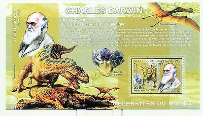 DINOSAURES & MINERAUX - DINOS & MINERALS CONGO 2006 C. Darwin block perforated
