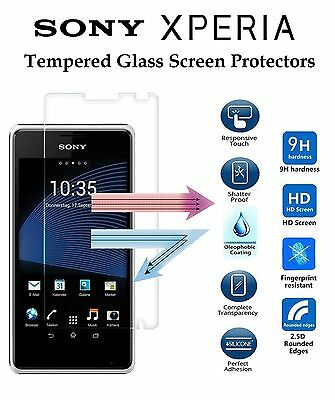 100% Genuine Tempered Glass Film Screen Protector For Various Sony Xperia Models