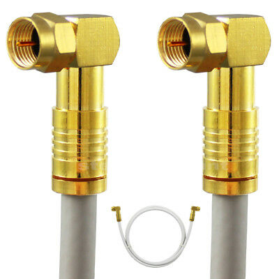 HD Cable 135db Angle Compressions F Plug Digital Coaxial Antenna Unitymedia