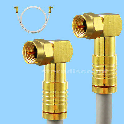 135db Angle F-Plug/F-Pressstecker on Coaxial Cable Cable HDTV Uhd Sat Gold