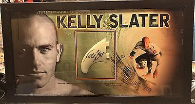 Kelly Slater Signed And Framed Fin