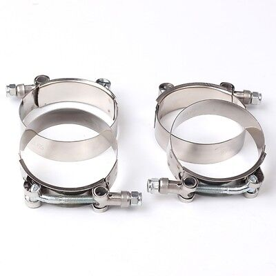 """4X 3"""" Stainless Steel T-Bolt Clamps Turbo Intake Silicone Hose Coulper Clamps"""